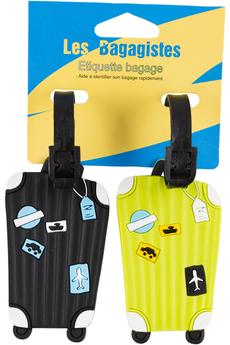 Accessoire soin du linge ENSEMBLE 2 ETIQUETTES NOIR/VERT Les Bagagistes