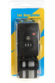 Accessoire soin du linge SANGLES BAGAGE TSA COMBINAISON CODE NOIR Les Bagagistes