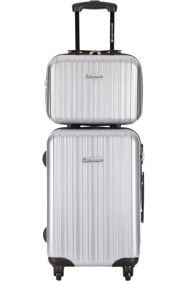valise platinium set 2 valises et vanity chelten argent 4217004 darty. Black Bedroom Furniture Sets. Home Design Ideas