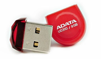 Clé USB MINI CLE 8GO USB 2.0 ROUGE A-data