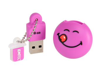 Clé USB Yum Yum 8Go USB 2.0 Smiley Purple Emtec