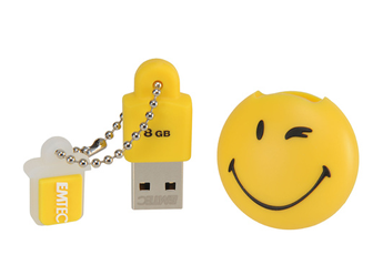 Clé USB Take It Easy 8Go Smiley Yellow Emtec