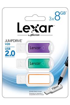 Clé USB PACK V20 3 x 8 GB Lexar
