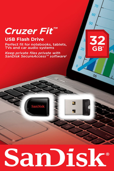 Clé USB CRUZER FIT 32GB USB 2.0 Sandisk