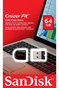 Clé USB CRUZER FIT 64 GO USB 2.0 Sandisk