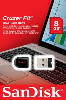 Clé USB CRUZER FIT 8 GO USB2.0 Sandisk