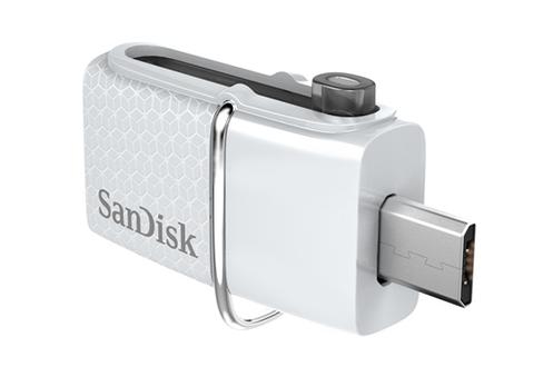 Clé USB Clé USB 3.0 SanDisk Ultra® Dual Drive 32 Go blanche Sandisk