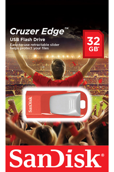 Clé USB EDGE RED 32GO USB2.0 Sandisk