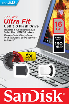 Clé USB Ultra Fit USB 3.0 Flash Drive 16 Go Sandisk