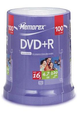 Memorex DVD+R 4,7GB 16X SP 100