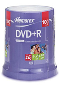 Memorex DVD+R 4,7GB 16X SP 100