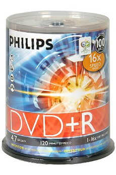CD / DVD / Blu-Ray 100 DVD+R Philips