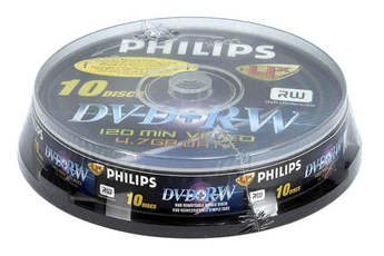 CD / DVD / Blu-Ray 10 DVD+RW Philips