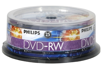 CD / DVD / Blu-Ray DVD-RW 4,7 X25 Philips