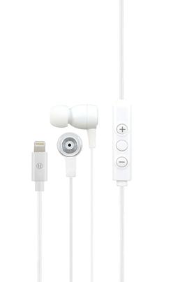 Écouteurs intar-auriculaires Technologie de réduction du bruit Microphone et commandes intégrés Connecteur Lightning MFI