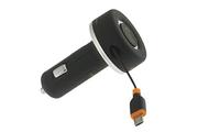 Chargeur portable Unplug Chargeur Allume-cigare Micro USB avec enrouleur