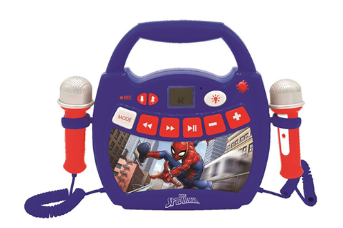 Lecteur Audio Lumineux Sans-fil Portable avec 2 micros SpiderMan