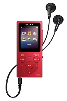 Lecteur audio MP3 NWE394R rouge Sony