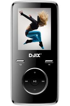 Lecteur audio vidéo MP3-MP4 M350 8GO FM NOIR D-jix