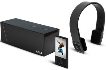 Lecteur audio vidéo MP3-MP4 D-JIX MP3 M490BT NOIR + ENCEINTE + CASQUE D-jix