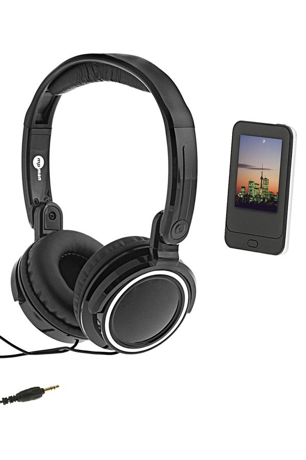 lecteur audio vid o mp3 mp4 mpman ts 200 4go noir casque. Black Bedroom Furniture Sets. Home Design Ideas
