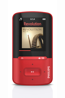 Baladeurs MP3 - Philips - Gogear Vibe 4go Rouge