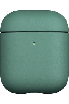 Accessoires audio Onearz Mobile Gear Etui en cuir véritable vert pour AirPods 1&2