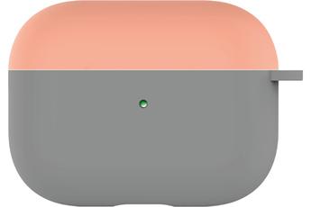 Accessoires audio Onearz Mobile Gear Etui en silicone liquide bicolor gris orange pour AirPods Pro