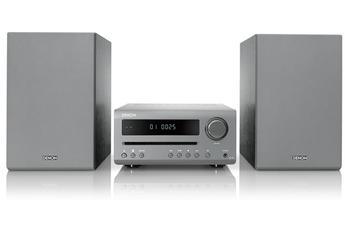 Micro chaîne avec lecteur CD compatible MP3 et WMA Puissance totale 2 x 15 watts sous 6 ohms Connexion sans fil Bluetooth Entrée numérique optique - Mode veille auto