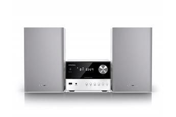 Micro chaîne avec lecteur CD compatible MP3 Puissance 2x15 Watts RMS - Technologie Bass Reflex Technologie Bluetooth 4.0 - Portée 10 mètres Tuner FM RDS 40 présélections - Port USB - Entrée auxiliaire