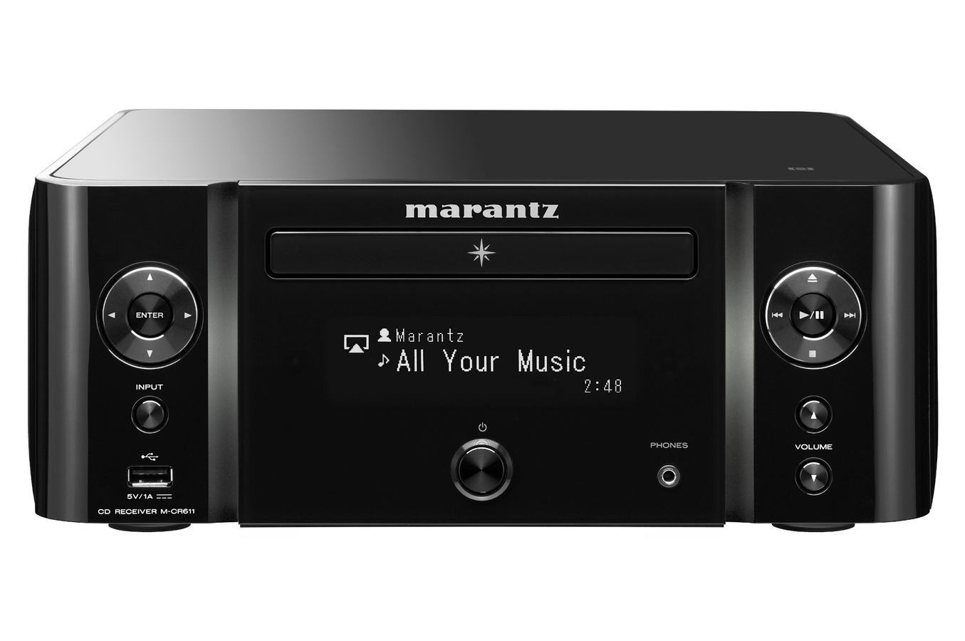 cha ne micro marantz mcr611 black 4177428 darty. Black Bedroom Furniture Sets. Home Design Ideas