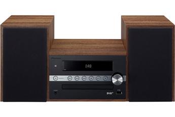 Puissance RMS 2 x 15 watts Bluetooth - BT Wake-Up Lecteur CD compatible MP3-WMA Enceintes finition Bois