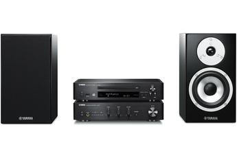 Système Hifi : lecteur CD réseau, amplificateur intégré et enceintes Amplificateur numérique 2 x 70 Watts Bluetooth - Technologie de contrôle des vibrations Compatible avec le système multiroom sans fil Yamaha MusicCast