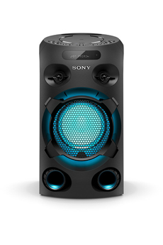 Enceinte Bluetooth avec lecteur CD compatible MP3 Effet Sonore et lumineux - Fonction Party Light - Application Fiestable Technologie Jet Bass Booster et Live sound 2 entrées microphone - 1 entrée guitare