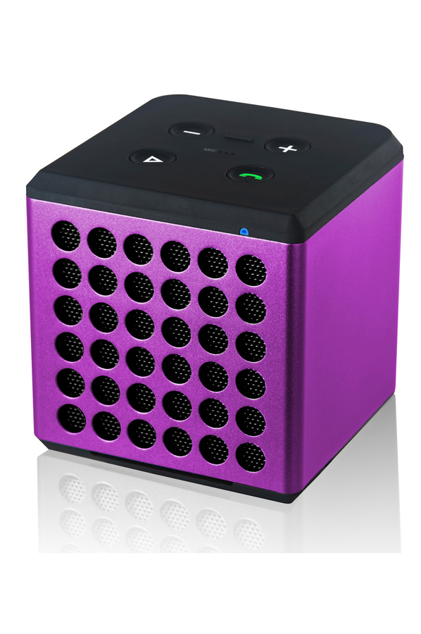 enceinte bluetooth sans fil dcybel cube violet cube. Black Bedroom Furniture Sets. Home Design Ideas