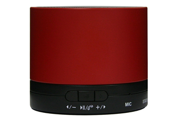 Enceinte Bluetooth / sans fil MINI DRUM ROUGE Dcybel