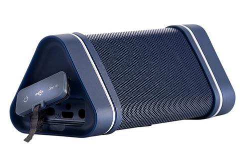 Mini enceinte nomade - Autonomie jusqu'à 12 heures Puissance 2 x 2,5 Watts - Connectivité Bluetooth Résiste aux éclaboussures, à la poussière, au sable et aux chocs Entrée auxiliaire 3,5 mm