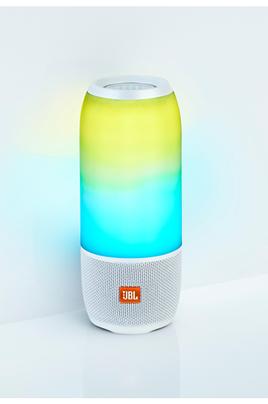 Enceinte nomade Bluetooth - Puissance de 20 Watts Autonomie jusqu'à 12 heures Jeu de lumières personnalisable - Son à 360° Fonction kit mains-libres - Etanchéité IPX7 - Résiste aux chocs