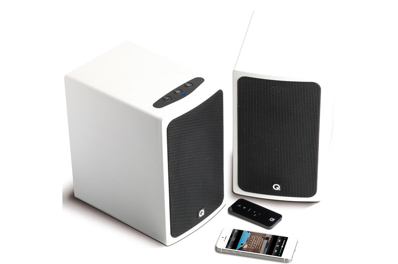 enceinte bluetooth sans fil q acoustics bt3 blanc laque 4156714 darty. Black Bedroom Furniture Sets. Home Design Ideas
