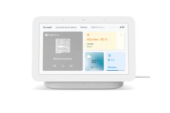Enceinte intelligente Google Nest Hub 2è génération - Ecran connecté avec Assistant Google - couleur