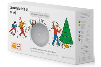 Enceinte intelligente Google Coffret connecté de Noël avec Google Nest Mini