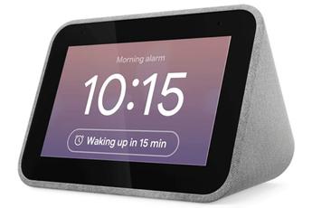 Enceinte intelligente Lenovo Réveil connecté Smart Clock
