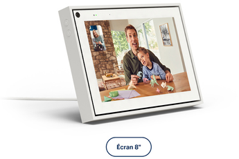 "Enceinte intelligente Portal From Facebook APPELS VIDEO INTELLIGENTS PORTAL 8"" BLANC"
