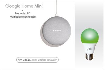 Enceinte intelligente Onearz Connect Pack Google mini + ampoule Onearz