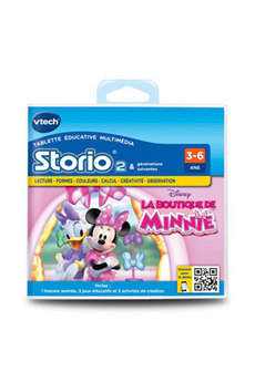 Jeux et accessoires pour tablette enfant JEU STORIO 2 BOUTIQUE MINNIE Vtech
