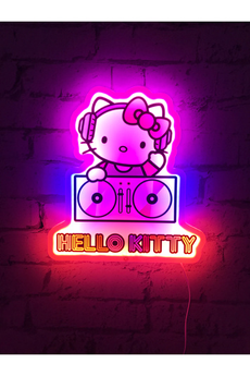Jouets éducatifs Hello Kitty Lampe LED murale Neon Hello Kitty