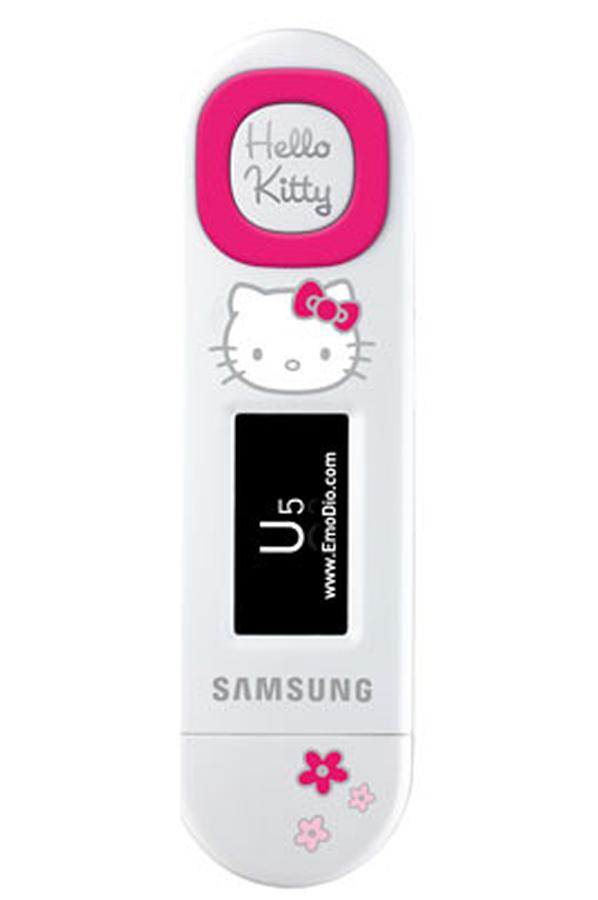 lecteur audio mp3 samsung yp u5jq 2 go blanc hello kitty. Black Bedroom Furniture Sets. Home Design Ideas