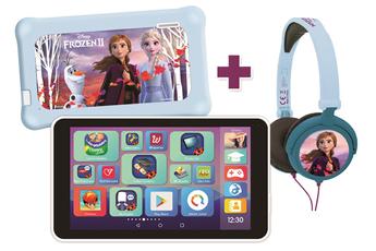 Tablette Tactile Enfant Lexibook LexiTab® Master avec Pochette de Protection et Casque Stéréo Reine des Neiges (version FR)