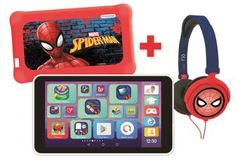 Tablette Tactile Enfant Lexibook LexiTab® Master avec Pochette de Protection et Casque Stéréo Spider-Man (version FR)
