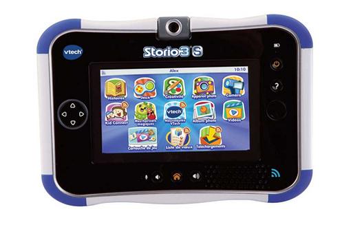 tablette tactile enfant vtech console storio 3 s bleue. Black Bedroom Furniture Sets. Home Design Ideas